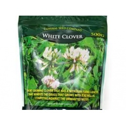 Grass Seed White Clover 500gram bag